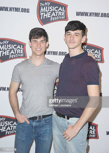 Actors Marrick Smith and Lyle Colby Mackston attend the 2013 New York Musical Theatre Festival Preview at The Pershing Square Signature Center on...
