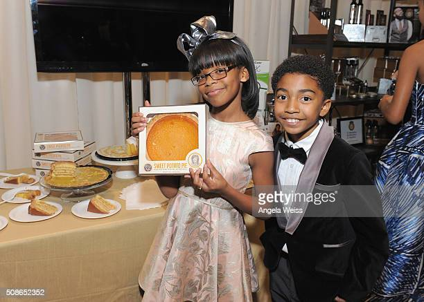 Actors Marsai Martin and Miles Brown attend the Backstage Creations Celebrity Retreat at The 47th NAACP Image Awards at Pasadena Civic Auditorium on...