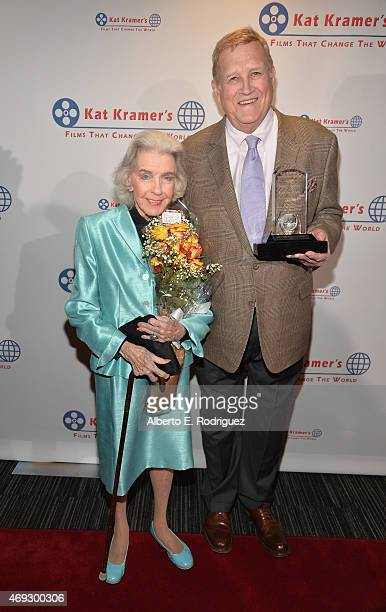 Actors Marsha Hunt and Ken Howard attend Kat Kramer's Films That Change The World on April 10 2015 in Hollywood California