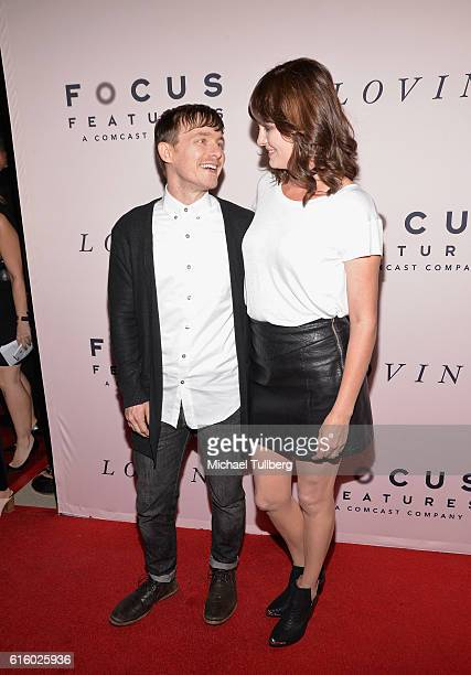 Actors Marshall Allman and Jamie Allman attend the premiere of Focus Features' Loving at Samuel Goldwyn Theater on October 20 2016 in Beverly Hills...