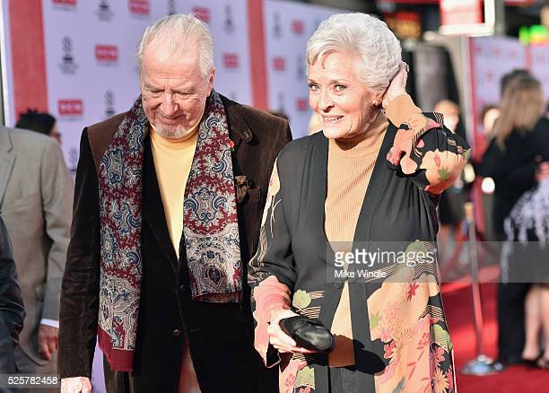 Actors Marshall Borden and Lee Meriwether attend 'All The President's Men' premiere during the TCM Classic Film Festival 2016 Opening Night on April...