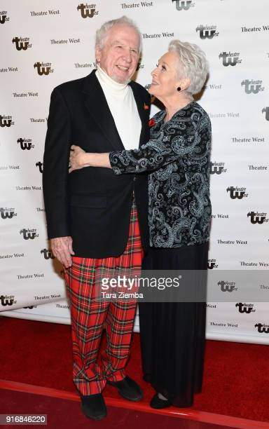 Actors Marshall Borden and Lee Meriwether attend the 'Love Letters To Lee Meriwether' premiere at Theatre West on February 10 2018 in Los Angeles...