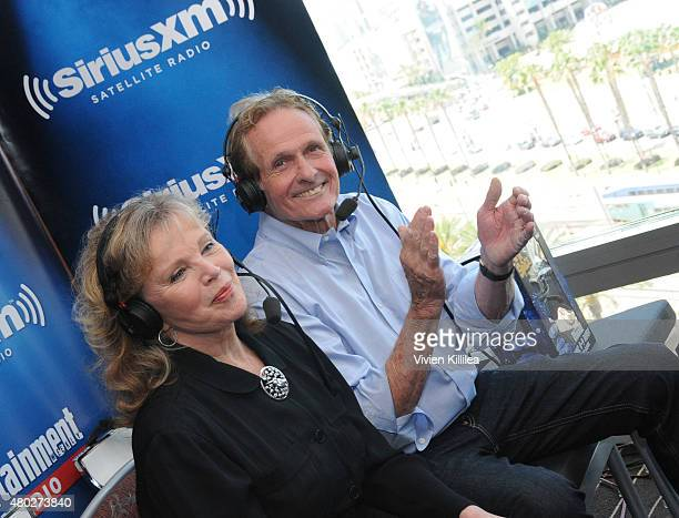 Actors Marta Kristen and Mark Goddard attend SiriusXM's Entertainment Weekly Radio Channel Broadcasts From ComicCon 2015 at Hard Rock Hotel San Diego...