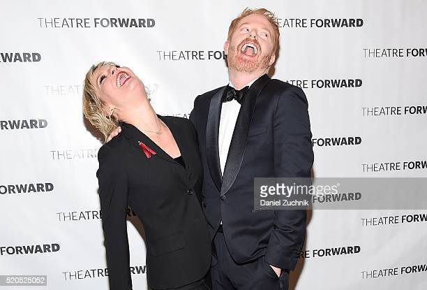 Actors Martha Plimpton and Jesse Tyler Ferguson attend the 2016 Theatre Forward's Chairman's Awards Gala at The Pierre Hotel on April 11 2016 in New...