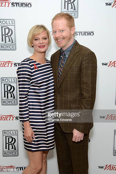 Actors Martha Plimpton and Jesse Tyler Ferguson attend The Variety Studio Awards Edition held at a private residence on November 29 2012 in Los...