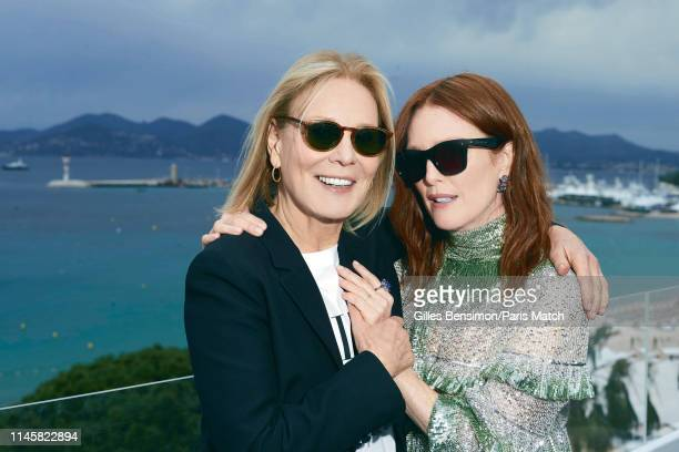 Actors Marthe Keller and Julianne Moore are photographed for Paris Match on May 17 2019 in Cannes France