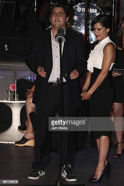 Actors Martin Altomaro and Ana Claudia Talancon during Photo Call of the television series I'm your fan at the Plaza Antara on April 27 2010 in...