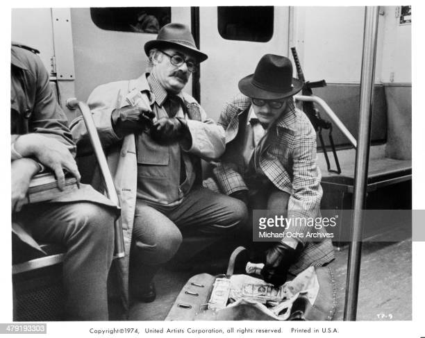 Actors Martin Balsam and Robert Shaw in a scene from the movie The Taking of Pelham One Two Three circa 1974