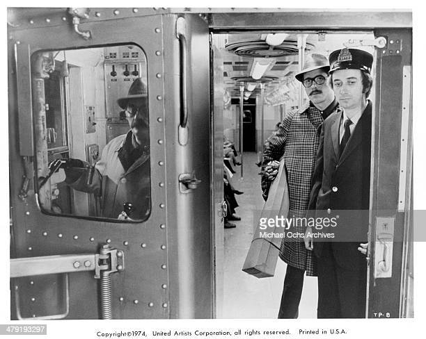 Actors Martin Balsam Earl Hindman and Jerry Holland in a scene from the movie The Taking of Pelham One Two Three circa 1974