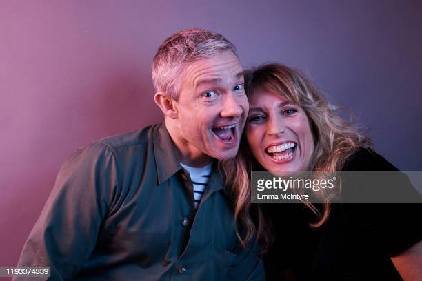 """Actors Martin Freeman and Daisy Haggard of FX's """"Breeders"""" pose for a portrait during the 2020 Winter TCA at The Langham Huntington, Pasadena on..."""