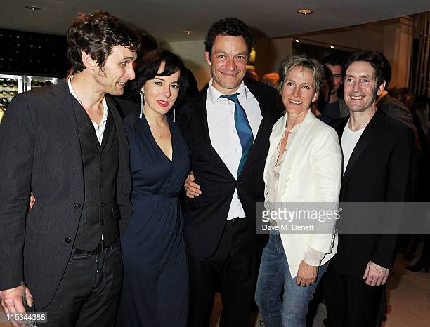 Actors Martin Hutson, Amanda Drew, Dominic West, Penny Downie and Paul McGann attend an after party following press night of the new West End...