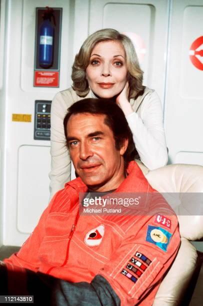 Actors Martin Landau and Barbara Bain in TV show 'Space1999' Series 2 USA 1977