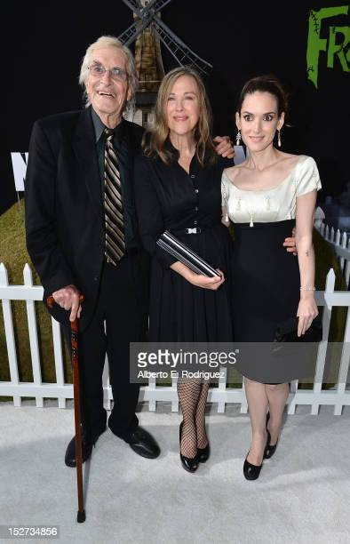 Actors Martin Landau Catherine O'Hara and Winona Ryder arrive at Disney's 'Frankenweenie' premiere at the El Capitan Theatre on September 24 2012 in...