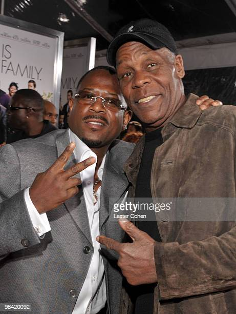 Actors Martin Lawrence and Danny Glover attend the 'Death At A Funeral' Los Angeles Premiere at Pacific's Cinerama Dome on April 12 2010 in Hollywood...