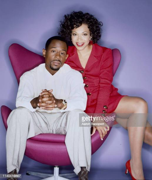 Actors Martin Lawrence and Tisha Campbell of the tv show Martin pose for a portrait in Los Angeles California