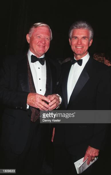 Actors Martin Milner and Kent McCord attend the 7th annual Jack Webb Awards October 14 2000 at Raleigh Studios in Hollywood CA