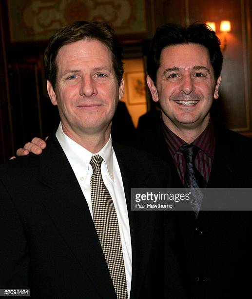 Actors Martin Moran and Evan Papas attend the Drama League's salute to Betty Comden and Adolph Green at the Pierre Hotel on January 31 2005 in New...