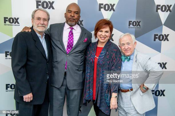 Actors Martin Mull David Alan Grier Vicki Lawrence and Leslie Jordan attend the 2018 Fox Network Upfront at Wollman Rink Central Park on May 14 2018...