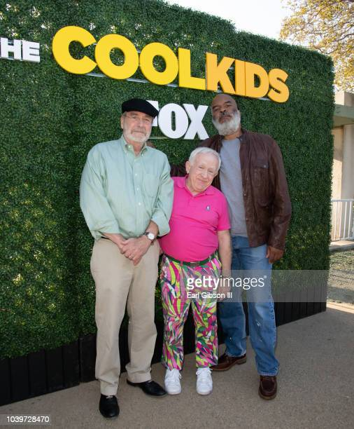Actors Martin Mull Leslie Jordan and David Alan Grier attend FOX Hosts The Cool Kids Outdoor Screening Event at Roxbury Park on September 24 2018 in...