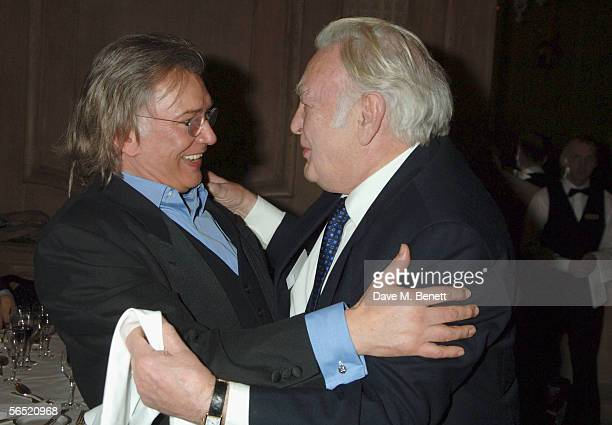 Actors Martin Shaw and Sir Donald Sinden attend the after show party following the opening night of Bill Kenwright's production at the Haymarket...