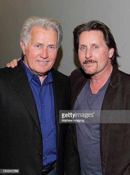 """Actors Martin Sheen and Emilio Estevez attend """"The Way"""" Screening And Reception at the Landmark Theater on November 30, 2011 in Los Angeles,..."""