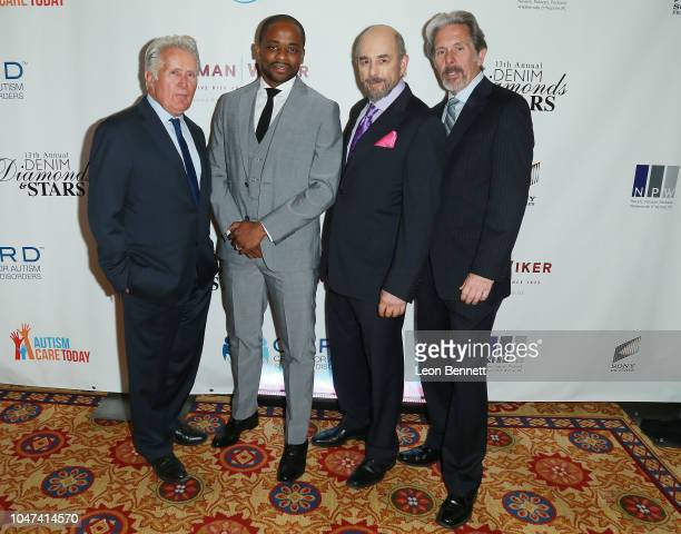 Actors Martin Sheen, Dulé Hill, Richard Schiff and Gary Cole attend the 13th Annual Denim, Diamonds And Stars at Four Seasons Hotel Westlake Village...