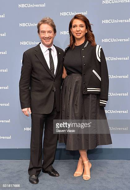 Actors Martin Short and Maya Rudolph attend the NBCUniversal 2016 Upfront Presentation on May 16 2016 in New York New York