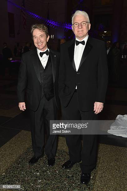 Actors Martin Short and Steve Martin attend the American Museum of Natural History's 2016 Museum Gala at American Museum of Natural History on...