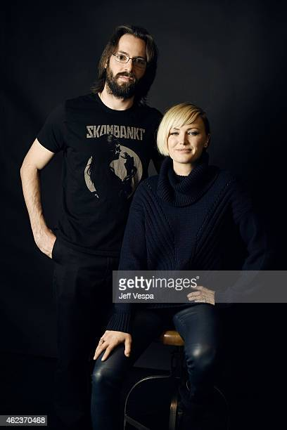 Actors Martin Starr and Malin Akerman of I'll See You in My Dreams pose for a portrait at the Village at the Lift Presented by McDonald's McCafe...