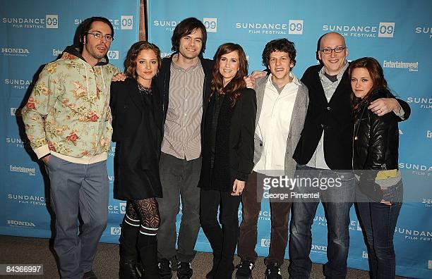 Actors Martin Starr Margarita Levieva Bill Hader Kristen Wiig Jesse Eisenberg writer/director Greg Mottola and actress Kristen Stewart attend the...