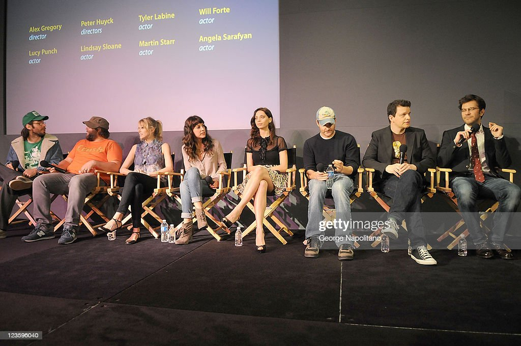 "The Apple Store Soho Presents Meet The Filmmakers: ""A Good Old Fashioned Orgy"" : News Photo"