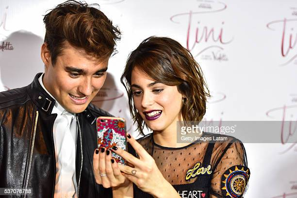 Actors Martina Stoessel and Jorge Blanco attend TINI El Gran Cambio de Violetta The Avant Premiere on May 31 2016 in Buenos Aires Argentina