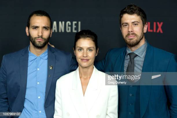 "Actors Marwan Kenzari, Hannah Ware and Toby Kebbell attend the Screening Of Netflix's ""The Angel"" at TCL Chinese 6 Theatres on September 13, 2018 in..."