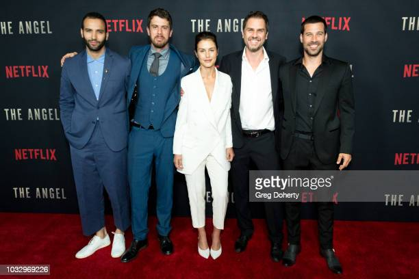 "Actors Marwan Kenzari, Toby Kebbell, and Hannah Ware, Director Ariel Vromen and Actor Guy Adler attend the Screening Of Netflix's ""The Angel"" at TCL..."