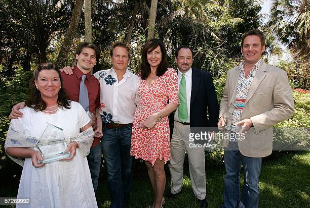 Actors Mary Badham Jason Ritter Richard Jenik Allison Janney and director Cameron Watson attend the Luncheon Under The Banyans during the Sarasota...