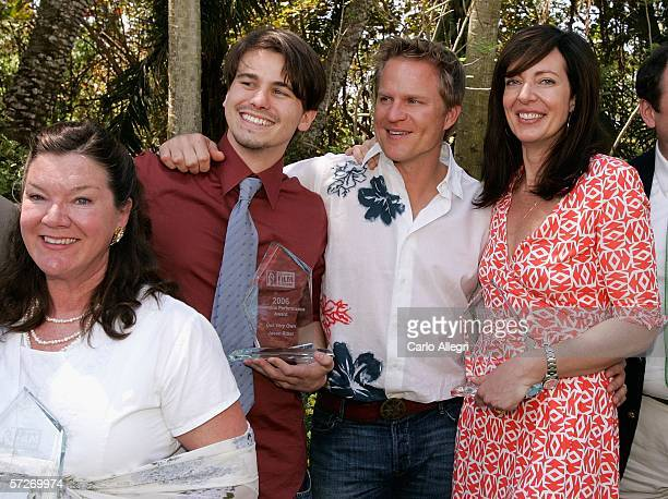 Actors Mary Badham Jason Ritter Richard Jenik and Allison Janney attend the Luncheon Under The Banyans during the Sarasota Film Festival at the Marie...
