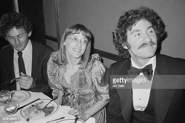 Actors Mary Beth Hurt and Kevin Kline at the opening night party for their play 'Crimes of the Heart,' New York, New York, November 11, 1981.