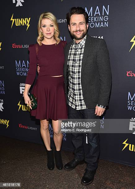 Actors Mary Elizabeth Ellis and Charlie Day arrive to the premiere of FXX's 'It's Always Sunny in Philadelphia' 10th Season and 'Man Seeking Woman'...