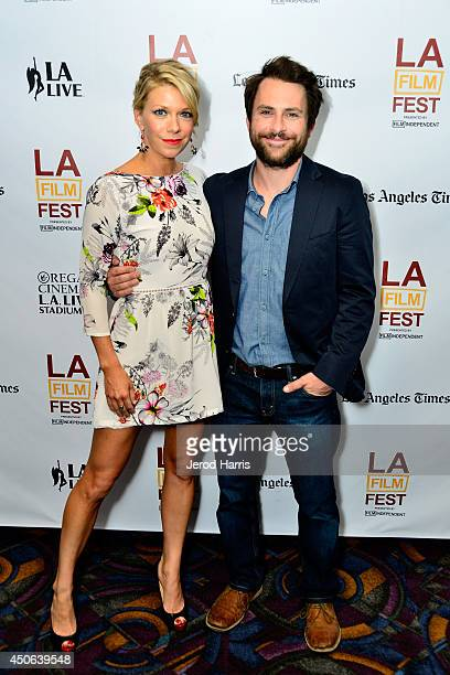"""Actors Mary Elizabeth Ellis and Charlie Day attend the premiere of """"The Last Time You Had Fun"""" during the 2014 Los Angeles Film Festival at Regal..."""