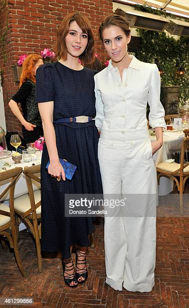 Actors Mary Elizabeth Winstead and Allison Williams attend Lynn Hirschberg Celebrates W's It Girls with Piaget and Dom Perignon at AOC on January 10...