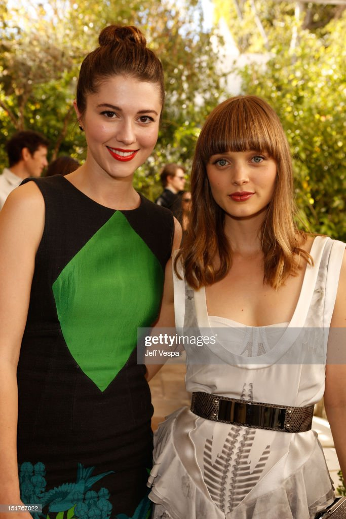 Actors Mary Elizabeth Winstead and Bella Heathcote attend CFDA/Vogue Fashion Fund Event hosted by Lisa Love and Mark Holgate and sponsored by Audi, Beauty.com, American Express, and J Brand at Chateau Marmont on October 25, 2012 in Los Angeles, California.