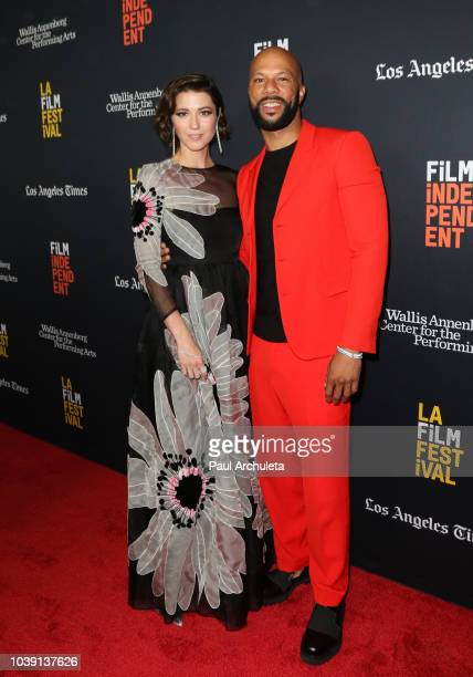 Actors Mary Elizabeth Winstead and Common attend the screening of 'All About Nina' at the 2018 LA Film Festival at Wallis Annenberg Center for the...