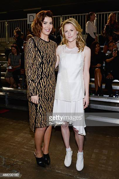 Actors Mary Elizabeth Winstead and Mamie Gummer attend 31 Phillip Lim Spring 2016 during New York Fashion Week at Pier 94 on September 14 2015 in New...