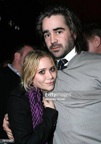 """Actors Mary Kate Olsen and Colin Farrell attend the 2008 Sundance Film """"In Bruges"""" Premiere presented by Focus Features at Village at the Lift on..."""