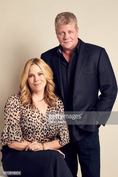 Actors Mary McCormack and Michael Cudlitz of ABC's 'The Kids Are Alright' pose for a portrait during the 2018 Summer Television Critics Association...