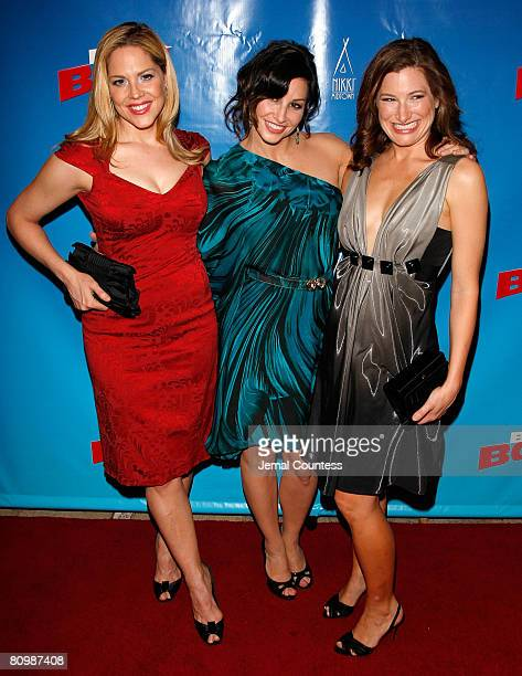 Actors Mary McCormack Gina Gershon and Kathryn Hahn attend the opening night afterparty for the Broadway production of 'BoeingBoeing' at Nikki...