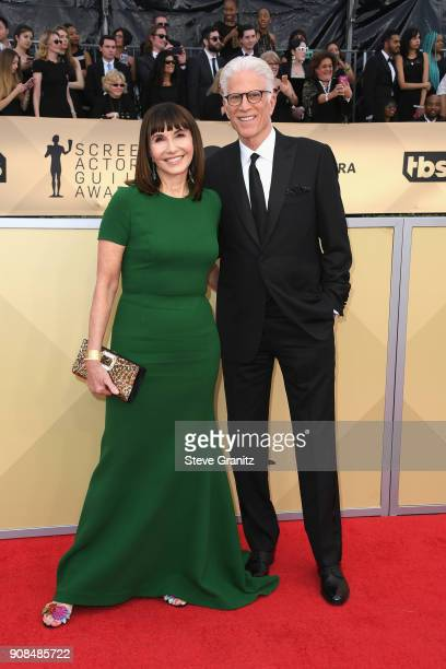 Actors Mary Steenburgen and Ted Danson attend the 24th Annual Screen Actors Guild Awards at The Shrine Auditorium on January 21 2018 in Los Angeles...