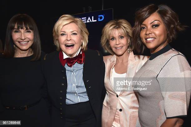 Actors Mary Steenburgen Candice Bergen Jane Fonda and Taraji P Henson attend the CinemaCon 2018 Paramount Pictures Presentation Highlighting Its...