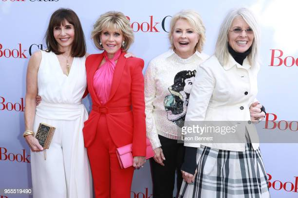 Actors Mary Steenburgen Jane Fonda Candice Bergen and Diane Keaton attends Paramount Pictures' Premiere Of 'Book Club' Red Carpet at Regency Village...