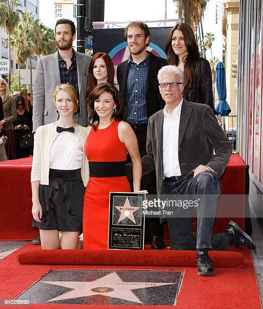 Actors Mary Steenburgen with Ted Danson and their children attend the ceremony honoring Steenburgen with a star on the Hollywood Walk of Fame on...